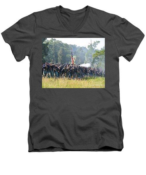 Gettysburg Union Infantry 9372c Men's V-Neck T-Shirt
