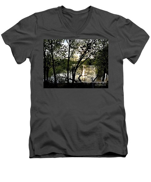 Men's V-Neck T-Shirt featuring the photograph  In The Shadows  - No. 430 by Joe Finney