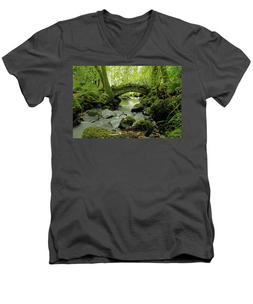 Kilfane Glen  Men's V-Neck T-Shirt by Martina Fagan