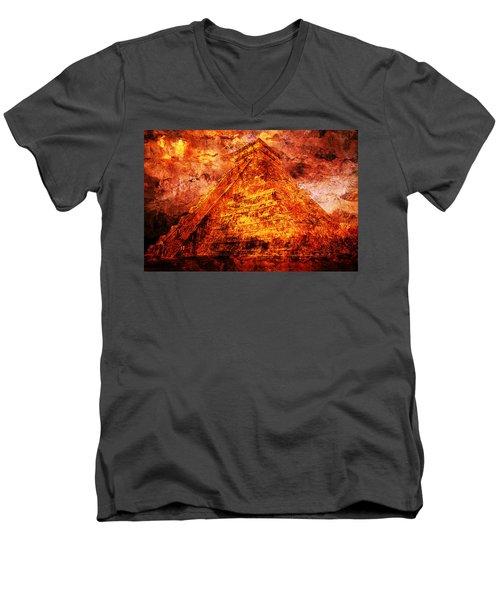 C H I C H E N  .  I T Z A .  Pyramid Men's V-Neck T-Shirt