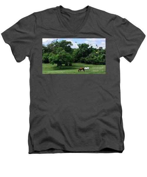 Mr. And Mrs. Horse - No. 195 Men's V-Neck T-Shirt