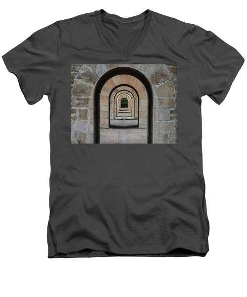 Receding Arches Men's V-Neck T-Shirt