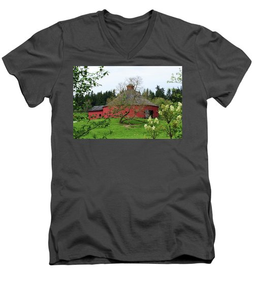 Spring At The Round Barn Men's V-Neck T-Shirt