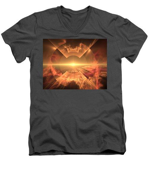 Supernova  Men's V-Neck T-Shirt
