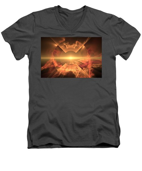 Supernova  Men's V-Neck T-Shirt