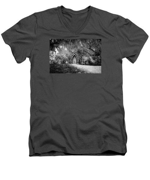 The Baughman Center Men's V-Neck T-Shirt by Louis Ferreira