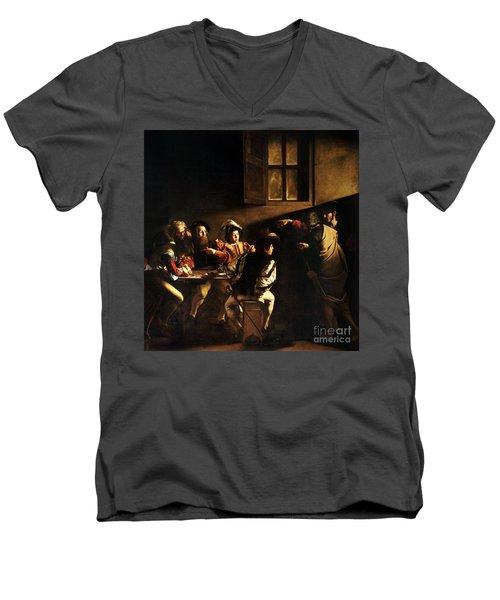 The Calling Of Saint Matthew Men's V-Neck T-Shirt