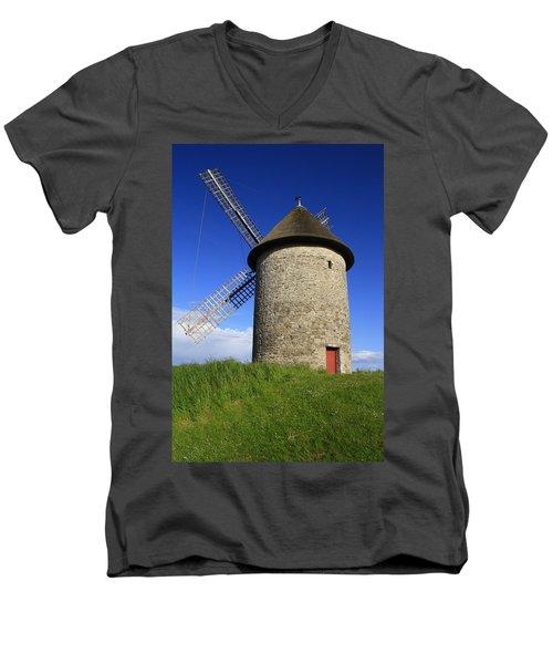 The Old Mill Men's V-Neck T-Shirt by Martina Fagan