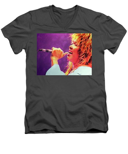 Tina Turner Men's V-Neck T-Shirt