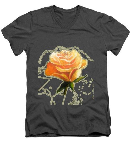 Yellow Roses Men's V-Neck T-Shirt by Vesna Martinjak