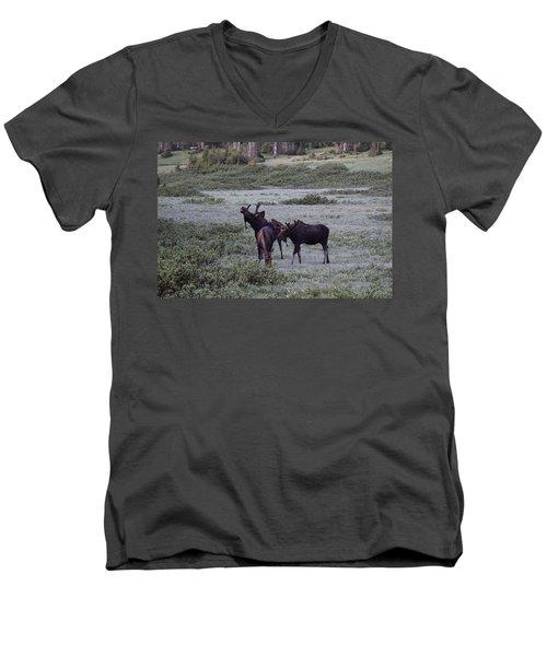 Moose Cameron Pass Co Men's V-Neck T-Shirt