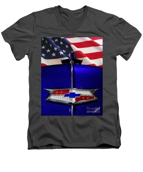 1954 Chevrolet Hood Emblem Men's V-Neck T-Shirt