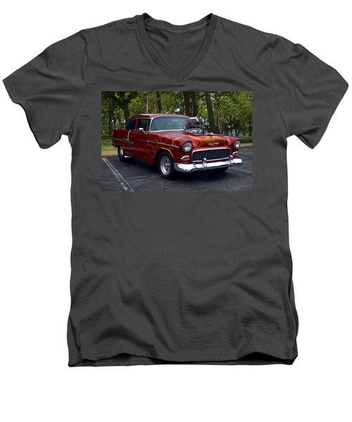 1955 Chevrolet Dragster Men's V-Neck T-Shirt