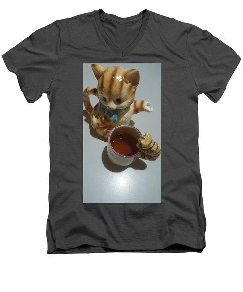 Koneko Means A Kitten Men's V-Neck T-Shirt