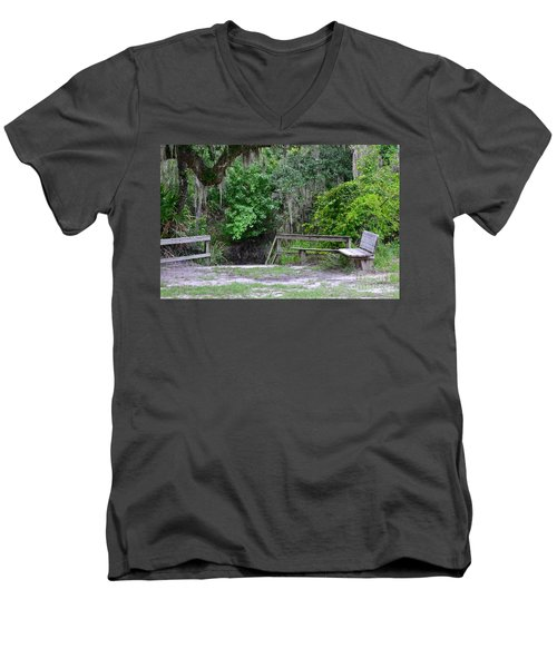 A Place To Rest Men's V-Neck T-Shirt by Carol  Bradley