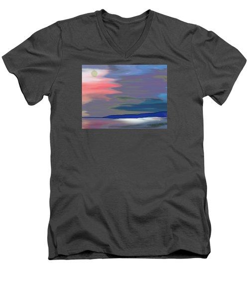 A Quiet Evening Men's V-Neck T-Shirt by Lenore Senior
