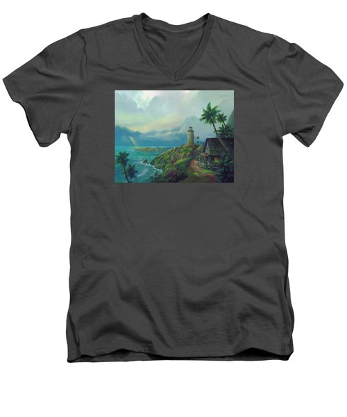A Small Patch Of Heaven Men's V-Neck T-Shirt by Michael Humphries