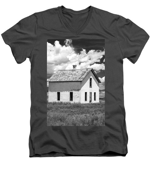 Men's V-Neck T-Shirt featuring the photograph Abandoned by Colleen Coccia