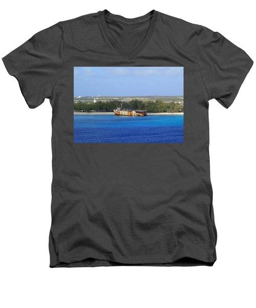 Abandoned Men's V-Neck T-Shirt by Lois Lepisto