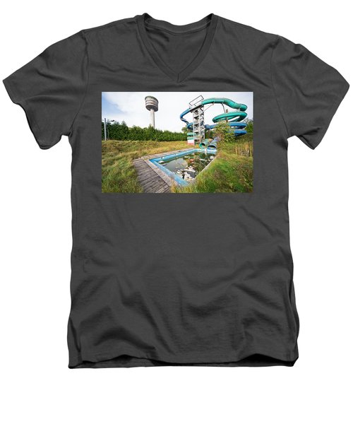 abandoned swimming pool - Urban exploration Men's V-Neck T-Shirt by Dirk Ercken