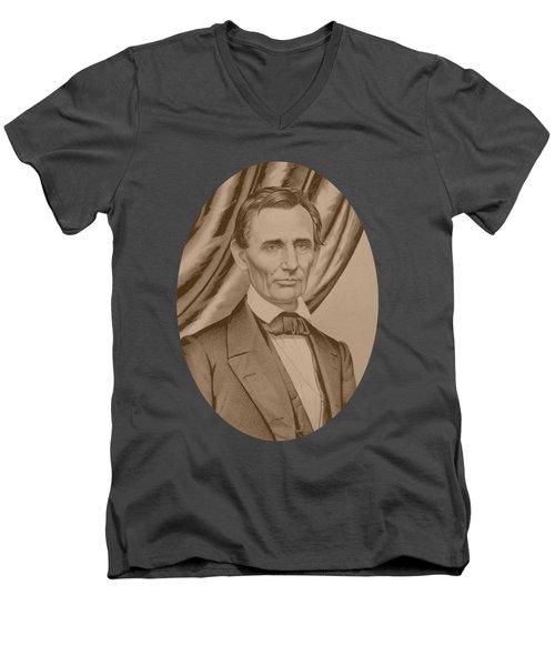 Abraham Lincoln Circa 1860  Men's V-Neck T-Shirt