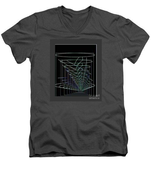 Abstract 13 Men's V-Neck T-Shirt by John Krakora