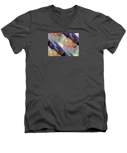 Abstract  145 Men's V-Neck T-Shirt