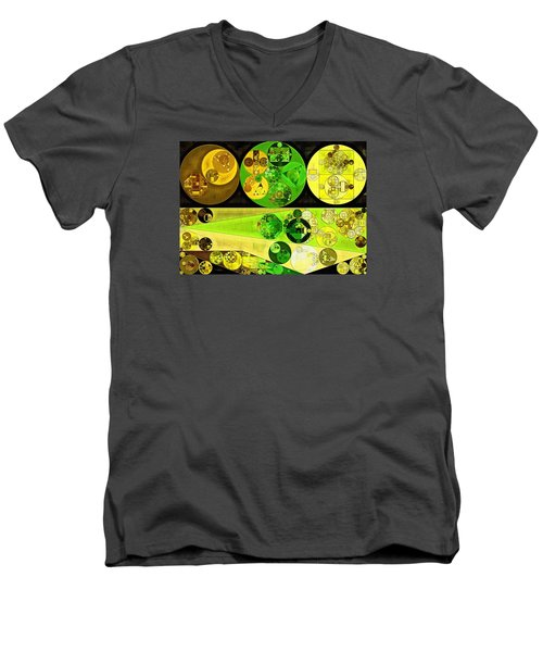 Men's V-Neck T-Shirt featuring the digital art Abstract Painting - Starship by Vitaliy Gladkiy