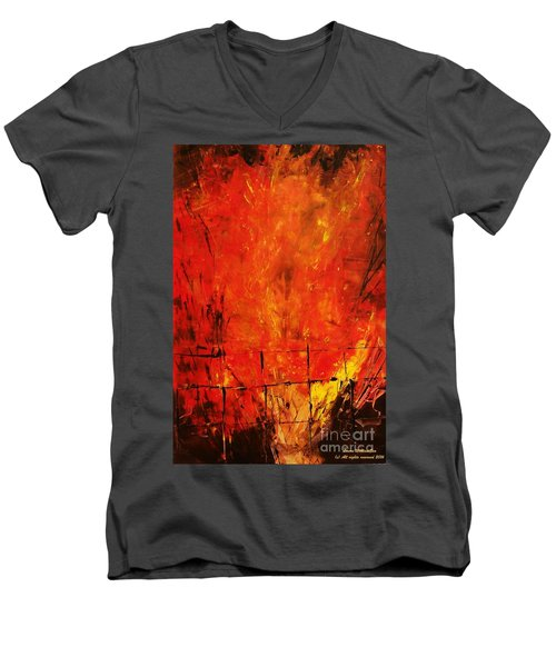 Acrylics Men's V-Neck T-Shirt