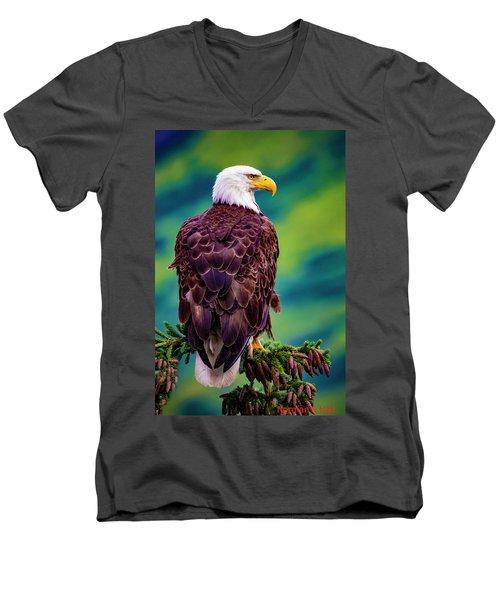 Alaska Bald Eagle Men's V-Neck T-Shirt