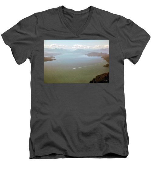 Men's V-Neck T-Shirt featuring the photograph Alaska The Beautiful by Madeline Ellis