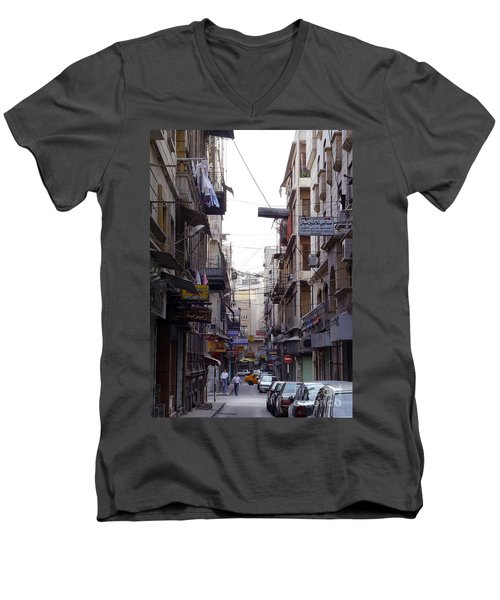 Aleppo Street01 Men's V-Neck T-Shirt