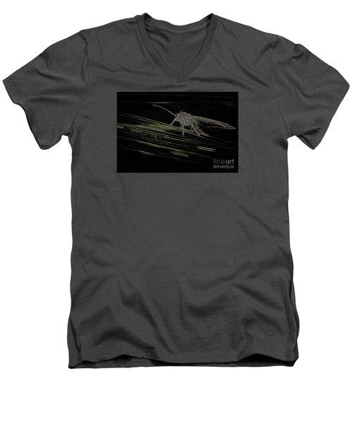 Men's V-Neck T-Shirt featuring the photograph Alien by Jivko Nakev