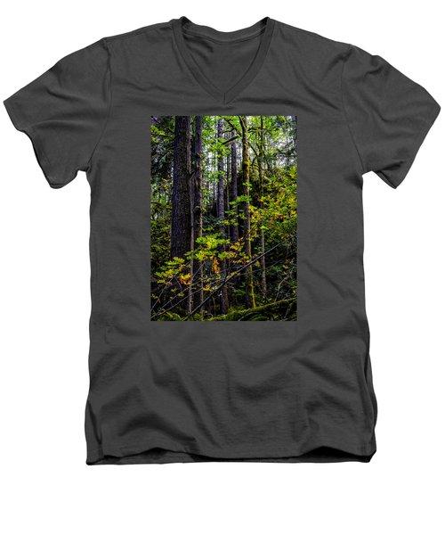 All Lit Up Men's V-Neck T-Shirt by Ronda Broatch