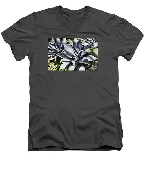 Men's V-Neck T-Shirt featuring the photograph Aloe by Judy Wolinsky