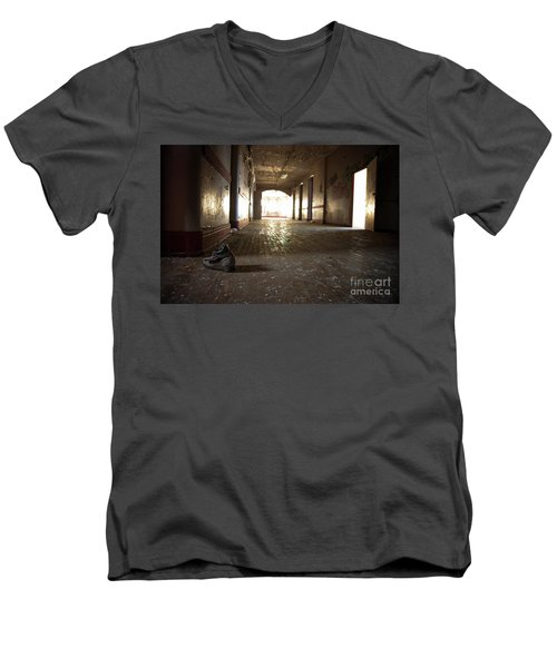 Men's V-Neck T-Shirt featuring the photograph Alone by Randall Cogle