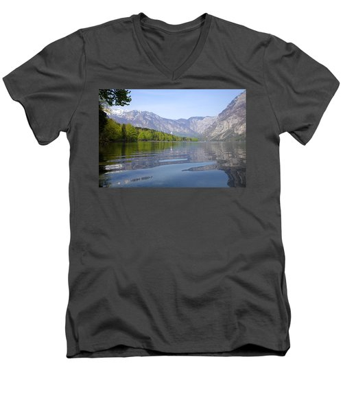 Men's V-Neck T-Shirt featuring the photograph Alpine Clarity by Ian Middleton