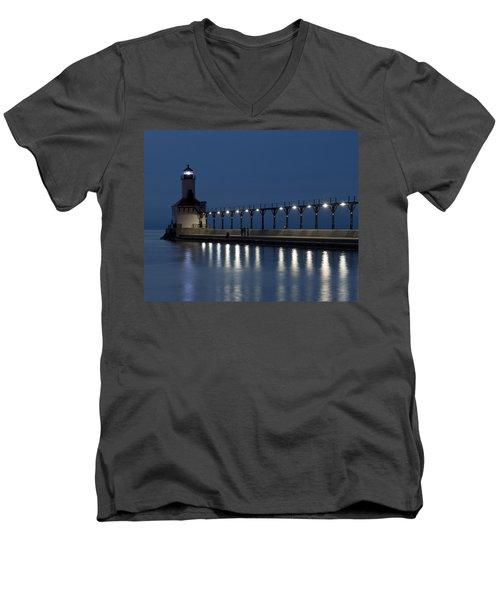 An Evening At The Lighthouse Men's V-Neck T-Shirt