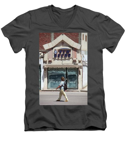 And There Men's V-Neck T-Shirt by Jez C Self