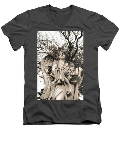 Angel In The Fall Men's V-Neck T-Shirt