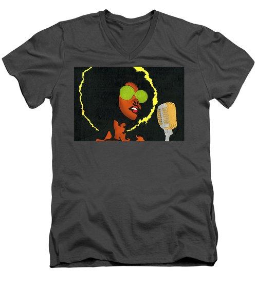 Angela Sings Men's V-Neck T-Shirt