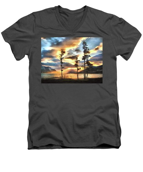 Men's V-Neck T-Shirt featuring the photograph Anniversary by Kathy Bassett