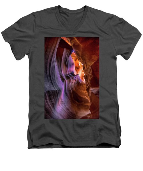 Men's V-Neck T-Shirt featuring the photograph Antelope Canyon #6 by Phil Abrams