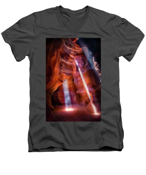 Antelope Canyon's Many Beams Men's V-Neck T-Shirt