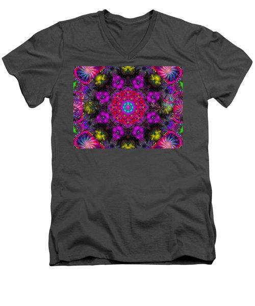 Men's V-Neck T-Shirt featuring the digital art April Rain by Robert Orinski