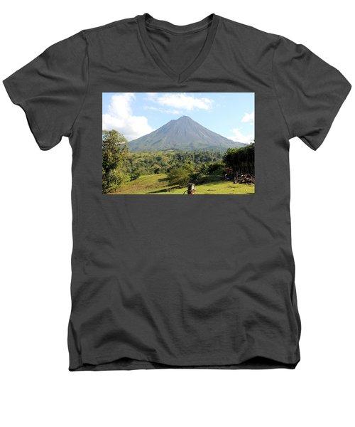 Arenal Volcano Men's V-Neck T-Shirt