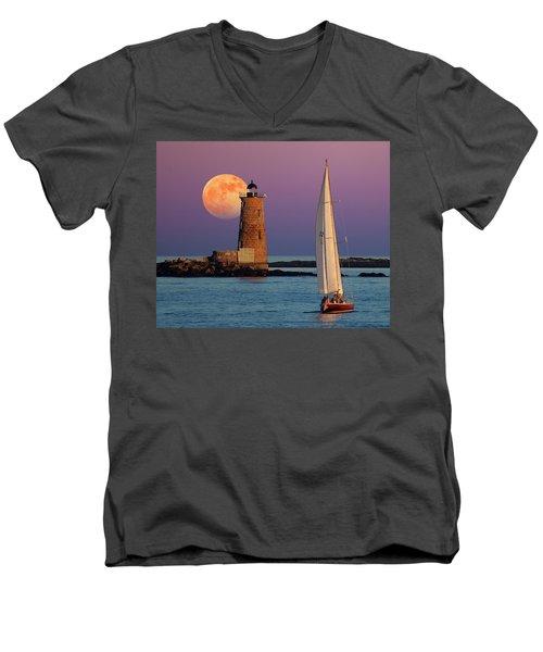Men's V-Neck T-Shirt featuring the photograph Arise  by Larry Landolfi