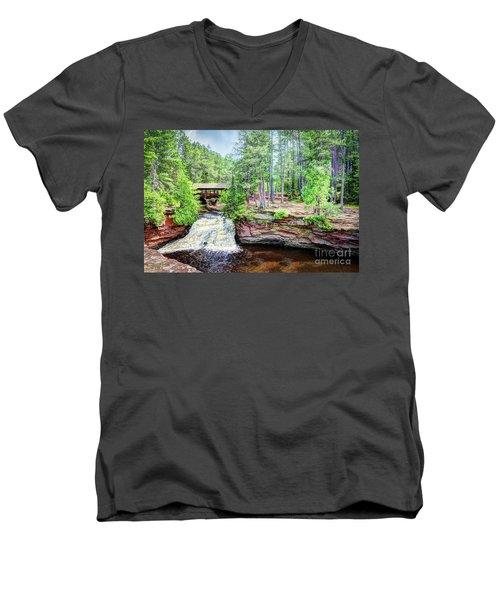 As The Water Falls Men's V-Neck T-Shirt