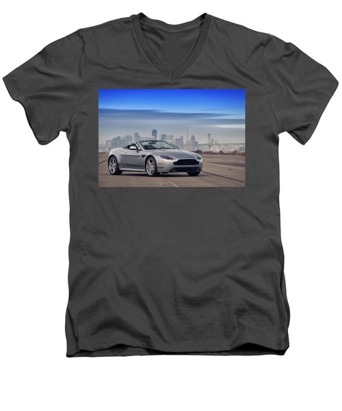 #astonmartin #print Men's V-Neck T-Shirt