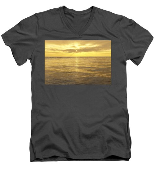 Men's V-Neck T-Shirt featuring the digital art Ocean View by Mark Greenberg